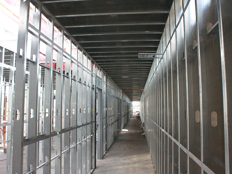 light gauge metal stud framing both interior and exterior metal roof and floor trusses fully engineered shop drawings certified welders